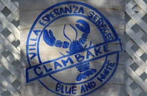Blue and White Clambake